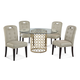 Bassett Mirror Thoroughly Modern 5-Piece Carnaby Round Dining Set in Gold