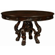 Coaster Benbrook Round Dining Table in Dark Cherry 105510