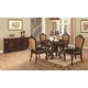 Coaster Benbrook 5-Piece Round Dining Room Set in Dark Cherry