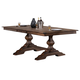 New Classic Furniture Sutton Manor Pedestal Dining Table in Distressed Oak D1505-10