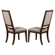 New Classic Furniture Sutton Manor Side Chair in Distressed Oak D1505-20 (Set of 2)
