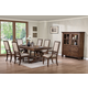 New Classic Furniture Sutton Manor 7-Piece Pedestal Dining Set in Distressed Oak