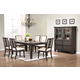 New Classic Furniture Beacon Street 7-Piece Rectangular Dining Set in Dusk