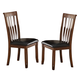 New Classic Furniture Wilson Side Chair in Burnished Cherry D0226-20 (Set of 2)