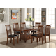 New Classic Furniture Wilson 7-Piece Oval Dining Set in Burnished Cherry