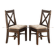 New Classic Furniture Tuscany Park Dining Chair in Vintage Gray D7404-20 (Set of 2)