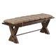 New Classic Furniture Tuscany Park Bench in Vintage Gray D7404-25