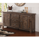 New Classic Furniture Tuscany Park Sideboard in Vintage Gray D7404-45