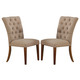 New Classic Furniture Normandy Dining Chair in Vintage Distressed D1232-20 (Set of 2)