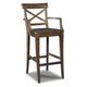 Hooker Furniture Rob Roy X-Back Barstool in Brown 300-20008 (Set of 2)