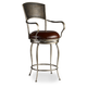 Hooker Furniture Metal Barstool with Leather Seat in Bronze 300-20024 (Set of 2)