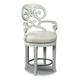 Hooker Furniture Mimosa Fabric Counter Stool in White 300-25006 (Set of 2)