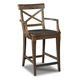 Hooker Furniture Rob Roy X-Back Counter Stool in Brown 300-25008 (Set of 2)