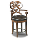 Hooker Furniture Jameson Leather Counter Stool in Medium Wood 300-25016 (Set of 2)