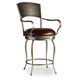 Hooker Furniture Metal Counter Stool with Leather Seat in Bronze 300-25024 (Set of 2)