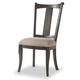 Hooker Furniture Vintage West Upholstered Splatback Side Chair in Dark Charcoal (Set of 2) 5700-75410