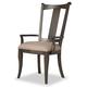 Hooker Furniture Vintage West Upholstered Splatback Arm Chair in Dark Charcoal (Set of 2) 5700-75400