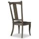 Hooker Furniture Vintage West Upholstered Splatback Side Chair in Dark Charcoal (Set of 2) 5700-75310