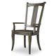 Hooker Furniture Vintage West Upholstered Splatback Arm Chair in Dark Charcoal (Set of 2) 5700-75300