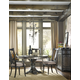 Hooker Furniture Vintage West 5-Piece Round Dining Set in Dark Charcoal
