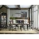 Hooker Furniture Vintage West 7-Piece Round Dining Set in Dark Charcoal