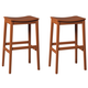 Bantilly Tall Stool in Red D389-0430 (Set of 2)