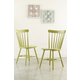 Bantilly Dining Room Chair in Green D389-05 (Set of 2)