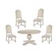 Hekman Homestead 5-Piece Round Dining Set in Linen