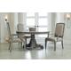 Hooker Furniture True Vintage 5-Piece Round Dining Set in Light Wood