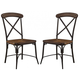 Rolena Side Chair in Brown D405-01 (Set of 2)