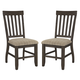 Dresbar Upholstered Side Chair in Grayish Brown D485-01 (Set of 2)