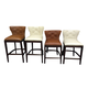 Canidelli Tall Upholstered Barstool in Brown D500-330 (Set of 2)
