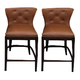 Canidelli Upholstered Barstool in Brown D500-424 (Set of 2)