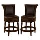 North Shore Upholstered Swivel Barstool in Dark Brown D553-224 (Set of 2)