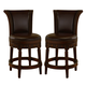 North Shore Tall Upholstered Swivel Barstool in Dark Brown D553-230 (Set of 2)