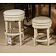 Crenlam Upholstered Swivel Stool in Antique White D562-024 (Set of 2)