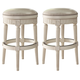Crenlam Tall Upholstered Swivel Stool in Antique White D562-030 (Set of 2)