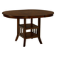 Renaburg Oval Counter Extension Table in Medium Brown D574-42