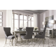 Coralayne 7-Piece Rectangular Extension Dining Set in Silver
