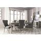 Coralayne 7-Piece Rectangular Extension Dining Set in Silver