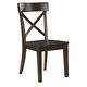 Gerlane Side Chair in Dark Brown D657-01 (Set of 2)