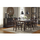 Gerlane 7-Piece Rectangular Extension Dining Set in Dark Brown