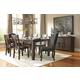 Trudell 7-Piece Rectangular Extension Dining Set in Dark Brown