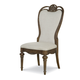 Legacy Classic Renaissance Upholstered Back Side Chair in Waxed Oak 5500-240 KD (Set of 2)