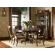 Legacy Classic Barrington Farm 5-Piece High/Low Round to Oval Pedestal Dining Set in Classic