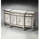 Butler Masterpiece Celeste Mirrored Buffet in Pewter Trim 2614146