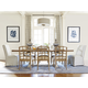 Universal Moderne Muse 9-Piece Rectangular Dining Set in Bisque
