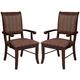 Acme Furniture Mahavira Arm Chair in Espresso (Set of 2)