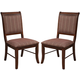Acme Furniture Mahavira Side Chair in Espresso (Set of 2)