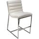Diamond Sofa Bardot Counter Height Chair in White BARDOTSTWH